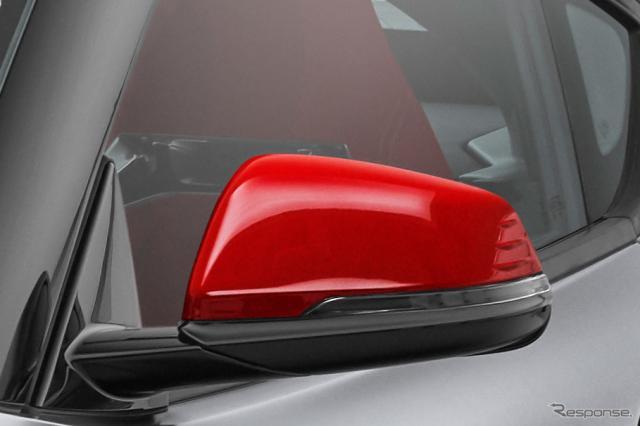 トヨタ スープラ 新型の量産第一号車。ドアミラーは赤となる