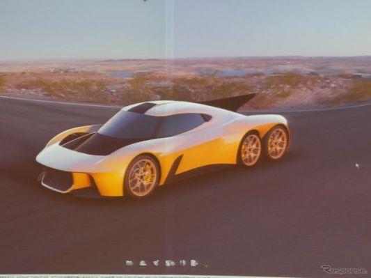 タジマEVのハイパーEVは6輪、2020馬力、0-100km/hが1.95秒…2019年8月に現物発表