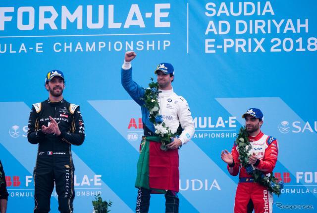 左から2位ベルニュ、優勝ダ・コスタ、3位ダンブロジオ。《写真提供 Michelin》