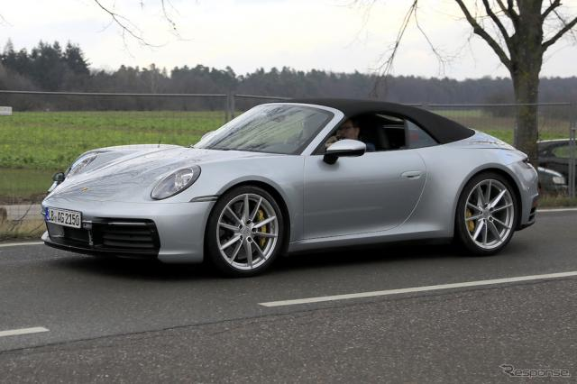 ポルシェ 911カブリオレ 新型スクープ《APOLLO NEWS SERVICE》
