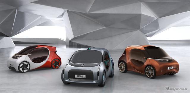 BASFとおGAC R&Dセンターが共同開発した超小型EVモビリティ