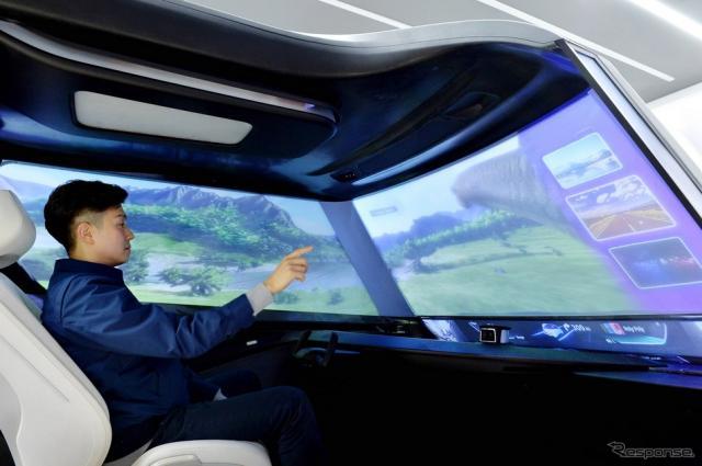 自動運転モードで窓ガラスが全面ディスプレイに切り替わる現代モービスの新技術