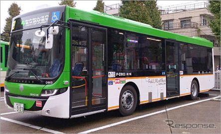 都営バス、フルフラットバスを導入…後方にある段差を解消