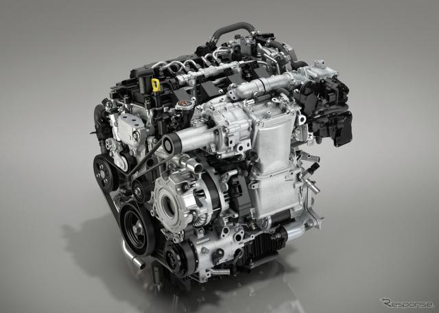 新型 Mazda 3 に搭載されるSKYACTIV-X エンジン《画像 マツダ》