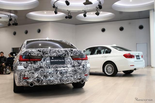 BMW 3シリーズ(偽装)《撮影  内田俊一》