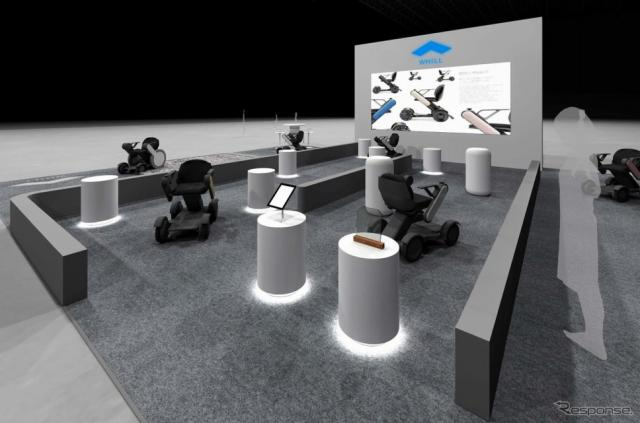 CES2019でのWHILLの出展ブースイメージ
