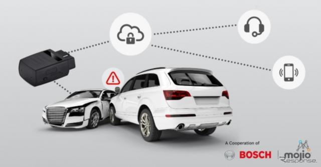 ボッシュのコネクトカー向け統合IoTプラットフォームがクラウド経由で事故データを送信
