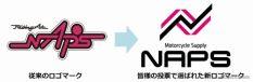 ナップス 現ロゴと新ロゴ