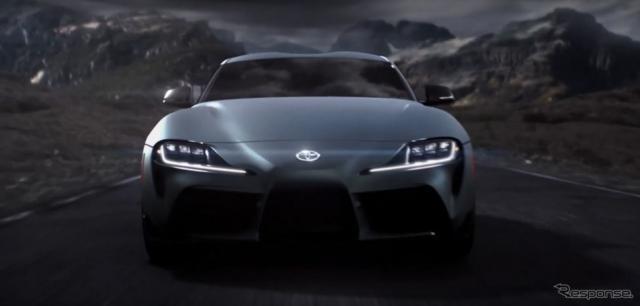 トヨタ・スープラ 新型の米国仕様の映像