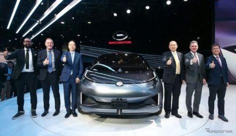広州汽車が電動SUV提案、ダッシュボード全面がほぼディスプレイ…デトロイトモーターショー2019