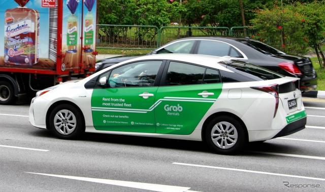 シンガポールの「グラブ」タクシー
