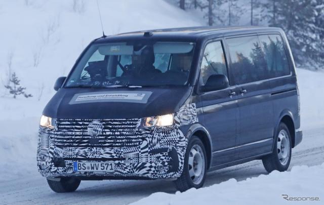 VW T6 改良新型 スクープ写真《APOLLO NEWS SERVICE》