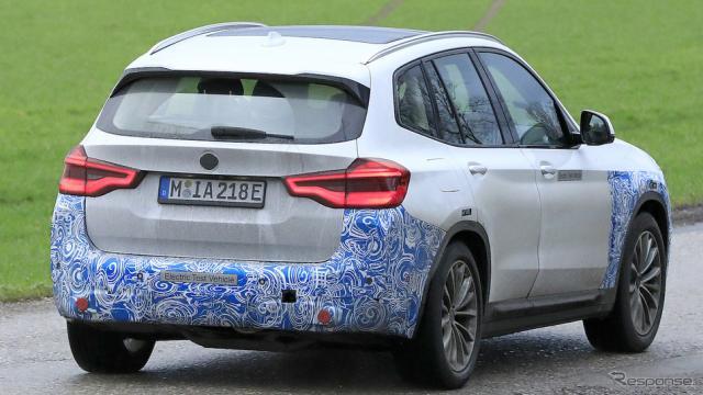 BMW iX3 スクープ写真《APOLLO NEWS SERVICE》