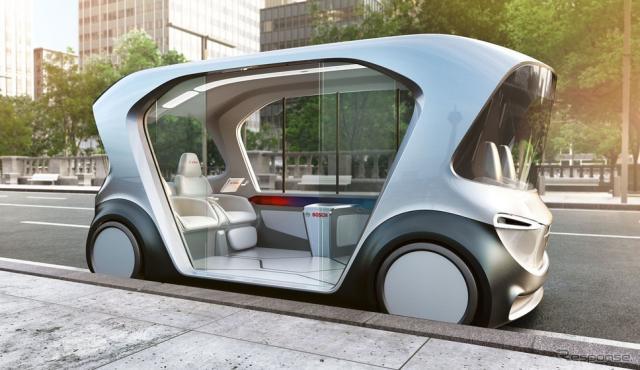 ボッシュの自動運転EVコンセプトカー。AIを活用している