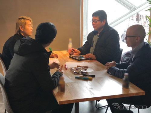 研究に先立って2018年12月14日に地域交通への理解を深めるために小松市で開催した「アイデアソン」の様子