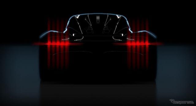 アストンマーティンの新型ミッドシップハイパーカーのティザーイメージ