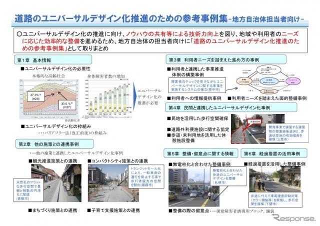道路のユニバーサルデザイン化推進のための参考事例集