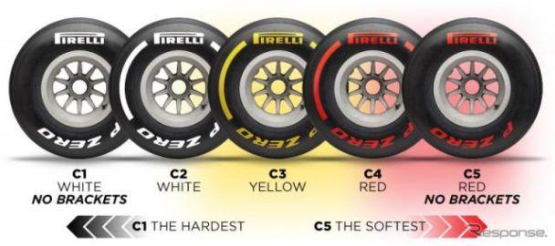 【F1】2019年シーズン用ピレリタイヤ、ドライは3種類のカラーと5種類のコンパウンド[訂正]
