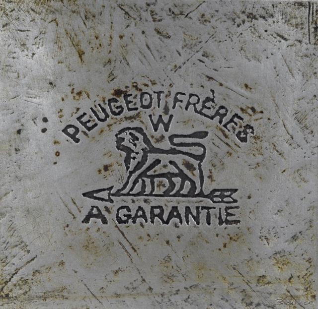 プジョーブランドのロゴ(1810年)当初は時計用の部品や工具などの製造をおこなっていた。《写真 ADIVA》