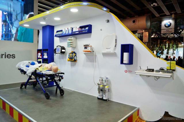 カタルーニャ政府が公開した、5Gを使う救急医療のモックアップ