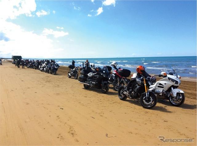 昇龍道バイクツアー「千里浜」