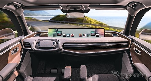 新世代車載コクピット向け32.1インチ横長ディスプレイのイメージ