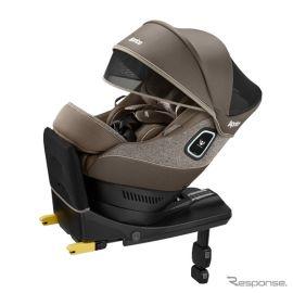 アップリカ、360°守る回転式イス型チャイルドシート発売へ 新安全規則R129適合