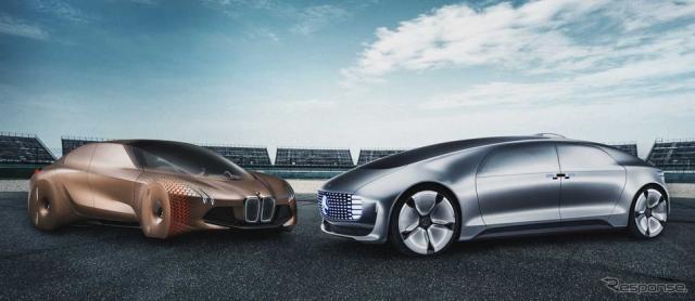 BMWグループとダイムラー(メルセデスベンツ)の自動運転技術搭載のコンセプトカー(参考画像)