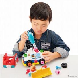 アンパンマンくみたてDIY、1台で3種類の乗り物を組み立てられる新商品発売へ