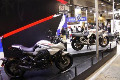 スズキで新旧 カタナ がそろい踏み、MotoGP参戦車にまたがりも…東京モーターサイクルショー2019