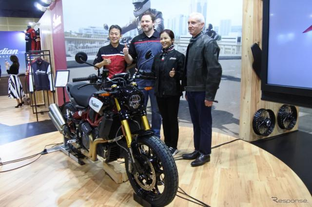 インディアンモーターサイクルブース(東京モーターサイクルショー2019)《撮影 小松哲也》
