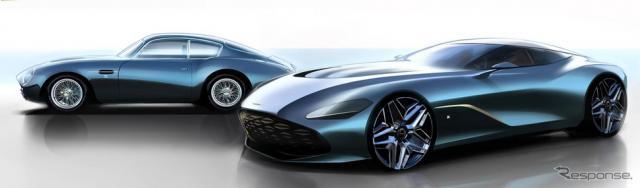 アストンマーティンのザガート100周年記念車のレンダリングイメージ