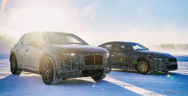 BMW iNEXT と i4 の開発プロトタイプ車