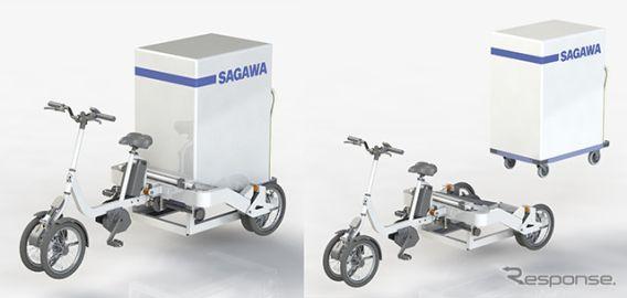 佐川急便など、新型業務用電動アシスト自転車「TRIKE CARGO」を開発