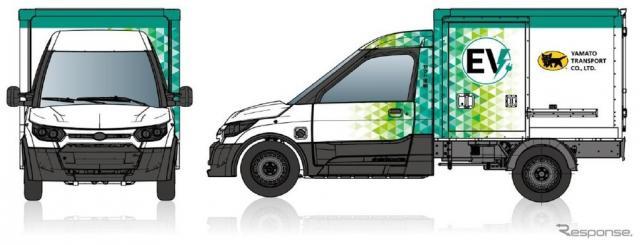 ヤマト運輸が導入する小型商用EVトラック(イメージ)