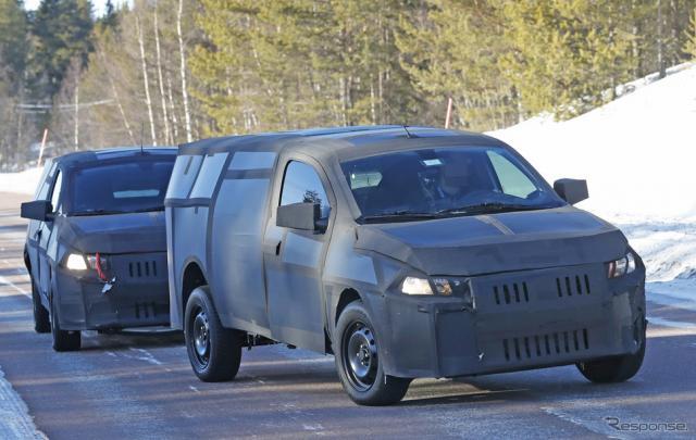 フィアット モビ ピックアップ開発車両(スクープ写真)《APOLLO NEWS SERVICE》