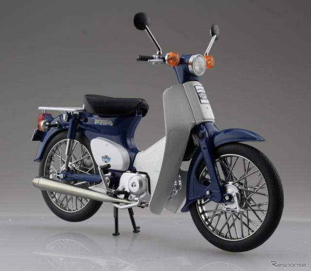 アオシマ 完成品バイクシリーズ ホンダ スーパーカブ(ブルー)※製品画像は試作品のため、実際の商品とは異なる箇所があります