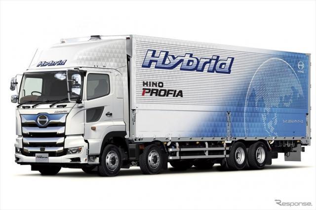 ハイブリッドトラックの例:日野プロフィア・ハイブリッド(参考画像)