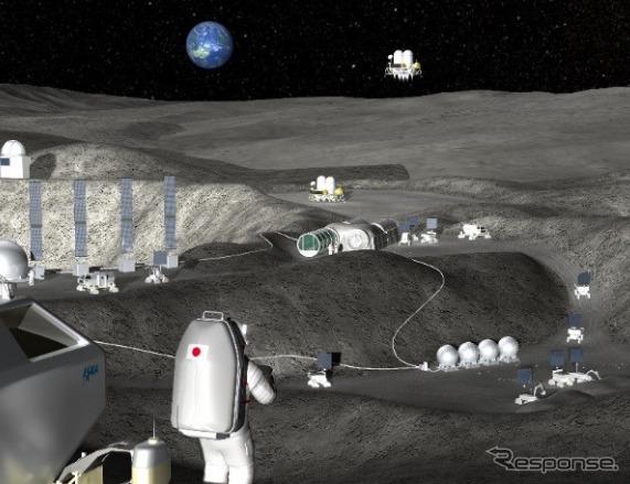 月拠点のイメージ(c)JAXA