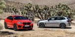 BMW X4M コンペティション(左)とBMW X3M コンペティション(右)