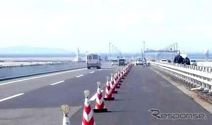 関空連絡橋、4月8日朝より6車線確保 7か月で完全復旧