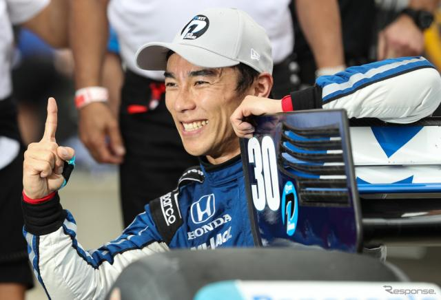 #30 佐藤琢磨が今季初ポールを獲得。《写真提供 INDYCAR》