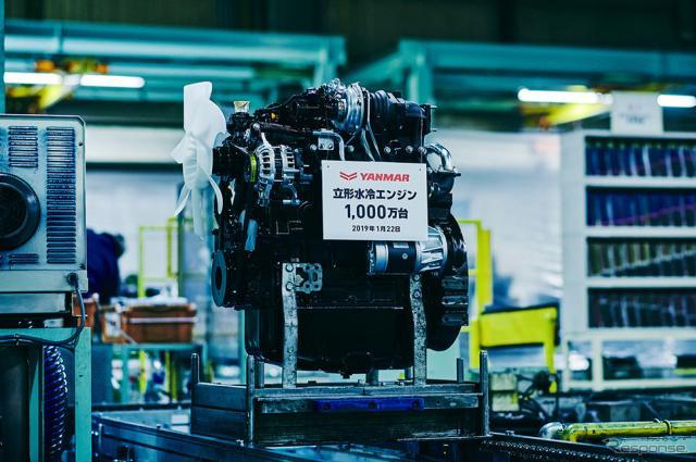 1000万台目となった立形水冷エンジン「4TNV98CT」