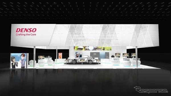 上海モーターショー2019のデンソーブース(イメージ)