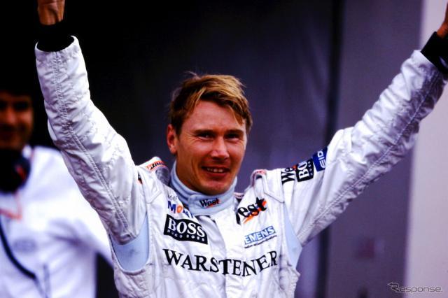 1999年の日本GPで2年連続F1王座獲得を決めたハッキネン。《写真提供 MOBILITYLAND》