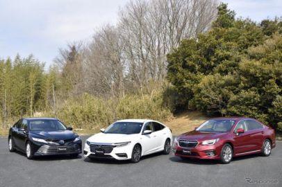 4ドアセダンはSUVのカウンターとなるか? 国産モデル3台乗り比べ…インサイト、カムリ、レガシィB4