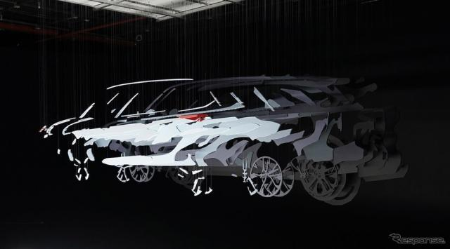 トヨタ・ハイランダー 新型のティザーイメージ
