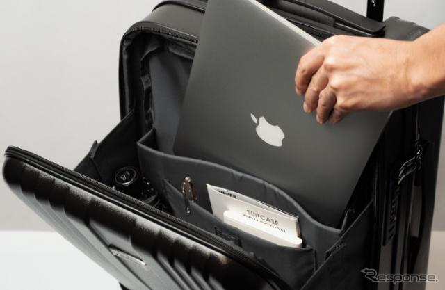 グッドイヤーホイールをキャスターに採用したスーツケース「リージェント スクエア」