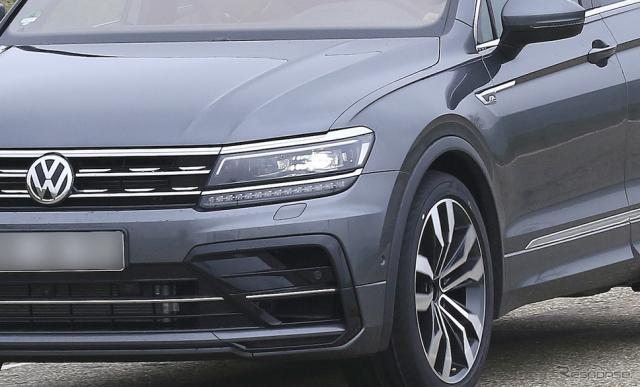 VW ティグアンR スクープ写真《APOLLO NEWS SERVICE》