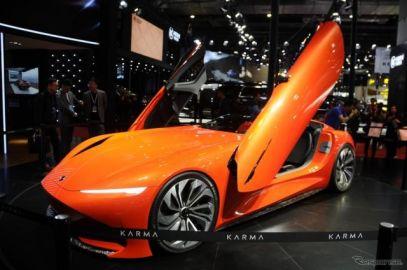 カルマ、バタフライドアのEVロードスター提案…上海モーターショー2019